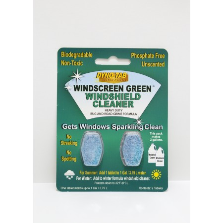 Dyno-Tab Windscreen Green 2-Tab Card